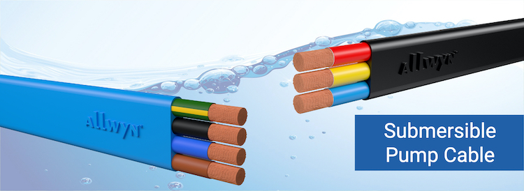 Allwyn Flat Submersible Pump Cable AWG