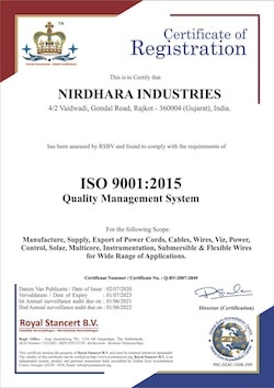 ISO Certified Cable